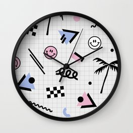 Smiley faces all day Wall Clock