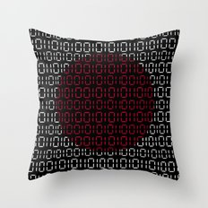 digital Flag (Japan) Throw Pillow