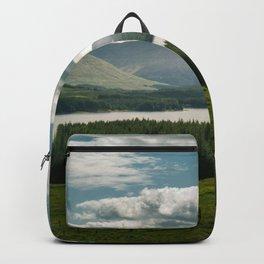 Lake in scottish Highlands Backpack
