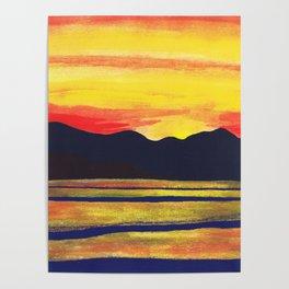 Salish Sea Sunset Poster