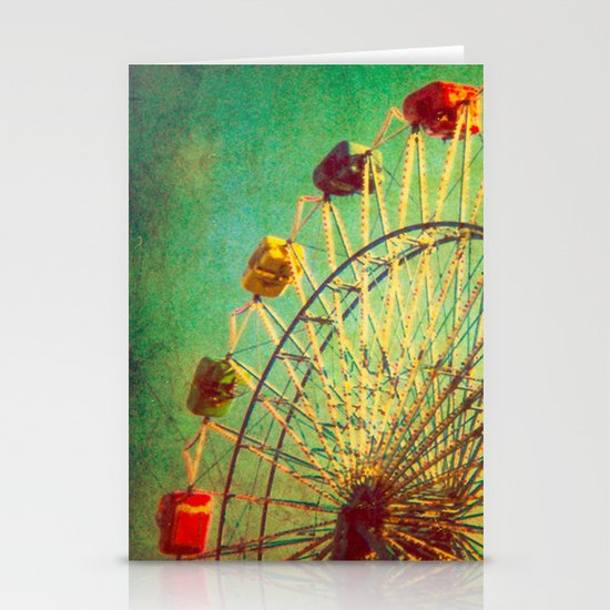 The Unbearable Elation of Summer carnival ferris wheel  Stationery Cards