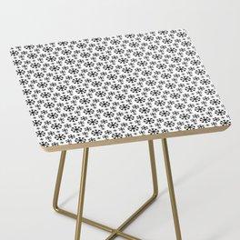 Black Snow Side Table
