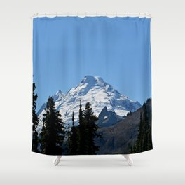 Snow Cap on the Mountain Shower Curtain