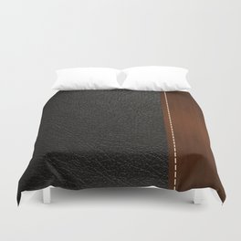 Black leather look Duvet Cover