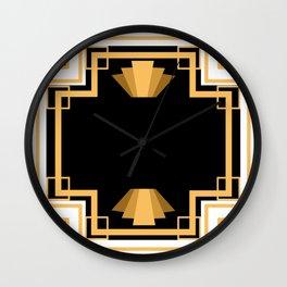 Modern Art Deco Crest Wall Clock