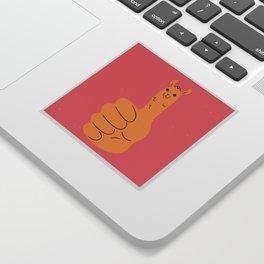 Llamas Up Sticker