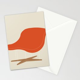 Orange La Chaise Chair by Charles & Ray Eames Stationery Cards