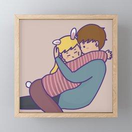 BUNNY KISS PINK Framed Mini Art Print