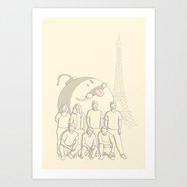 Photobomb Art Print