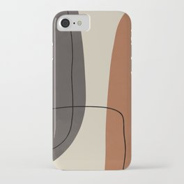 Modern Abstract Shapes #2 iPhone Case