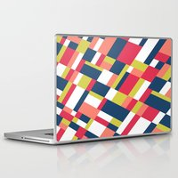 matisse Laptop & iPad Skins featuring Map Matisse Stretched by Project M