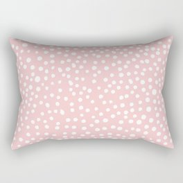 Rosequartz -marble pantone color art print decor minimal pastel pink girly hipster dots dot Rectangular Pillow