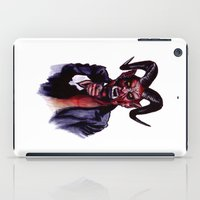 satan iPad Cases featuring Uncle Satan by Zombie Rust
