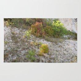 Chalk mountain and bush Rug