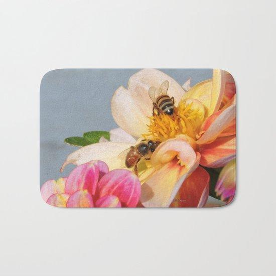Honeybees at Work Bath Mat