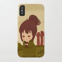 jane austen iPhone & iPod Cases featuring Jane Austen - Lizzy Bennet by Vale Bathory