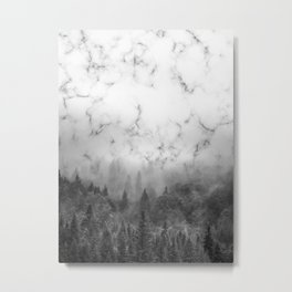 Marble Woods Metal Print