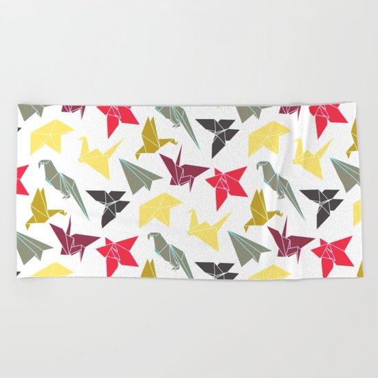 Origami Beach Towel