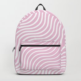 Whiskers - Light Pink & White #308 Backpack