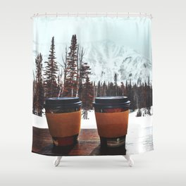 Snow, coffee and you * Shower Curtain