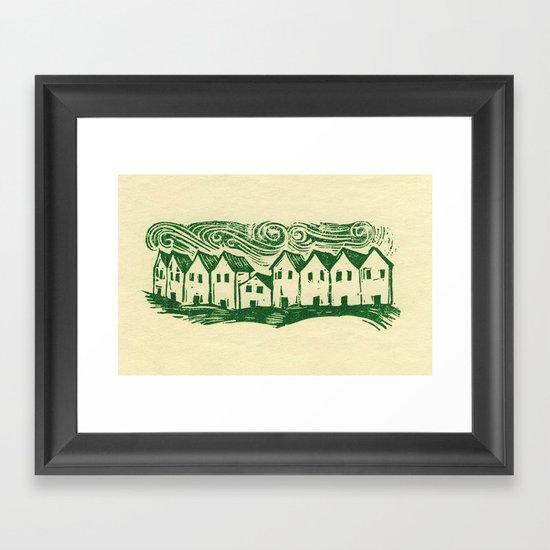 Sad Row Framed Art Print