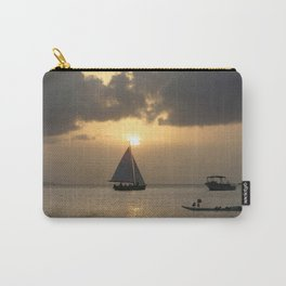 Watercolor People in Nature, NSS, Sailboat 13, St John, USVI Carry-All Pouch