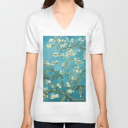 Almond Blossoms by Vincent van Gogh Unisex V-Neck