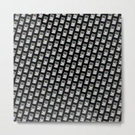 Gameboy black pattern Metal Print