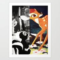 givenchy Art Prints featuring Givenchy Bambi by cvrcak