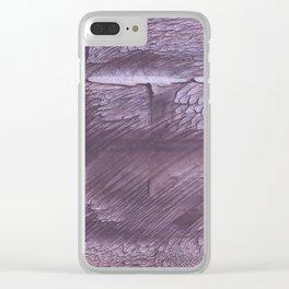 Dark lilac Clear iPhone Case