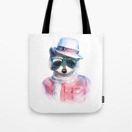 Cute fashion hipster animals pets raccoon Tote Bag