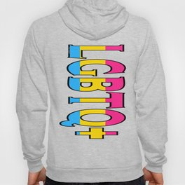 LGBTQ+ Font with Pansexual Flag Hoody