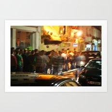 Night Life Galway Art Print