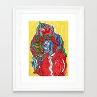 robin hood Framed Art Prints featuring San Robin Hood by REO zatara