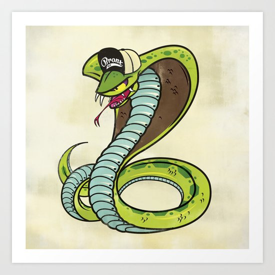 Bronx Zoo Cobra! Art Print