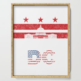 Vintage Washington Dc Capitol Hill Usa Flag Gift Serving Tray