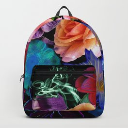 Colorful Fractal Flowers Backpack