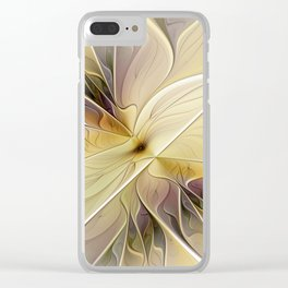 Floral Beauty, Abstract Fractal Art Flower Clear iPhone Case
