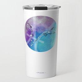 Pisces zodiac symbol constellation Travel Mug