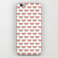 watermelon iPhone & iPod Skins featuring Watermelon by Note to Self: The Print Shop