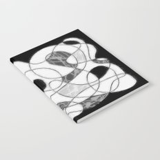 maze black and white Notebook
