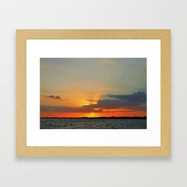 Go in for the Kiss Framed Art Print