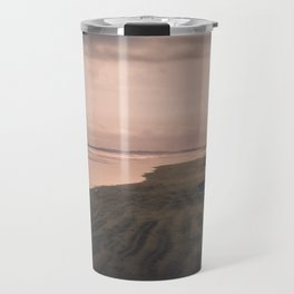 Bali Black Beach Sunset with Dog Travel Mug