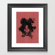 Basquiat botanical portrait Framed Art Print