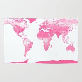 world mAp Pink Rug