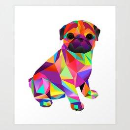 Pug Dog Molly Mops Art Print