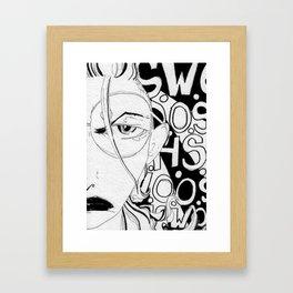 Landmark Twat Framed Art Print