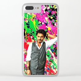 Johnny Depp - Celebrity Art Clear iPhone Case