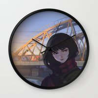 moscow Wall Clocks featuring Moscow by Ilya Kuvshinov