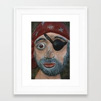 pirate Framed Art Prints featuring Pirate by Fine2art